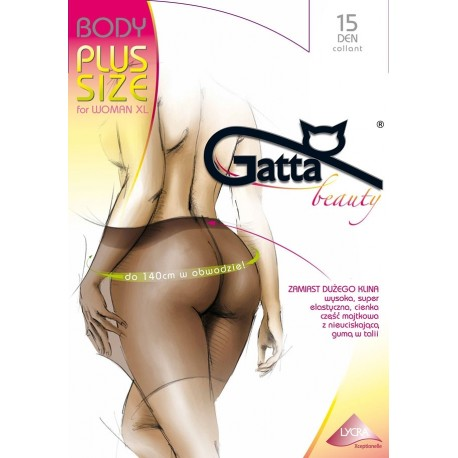 Rajstopy Gatta Body Plus Size 15 den for Woman XL